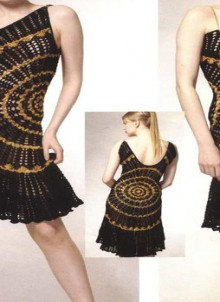 crochet evening dress for lady