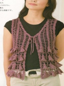 crochet fahion vest for girl