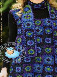 crochet fashion with granny squares