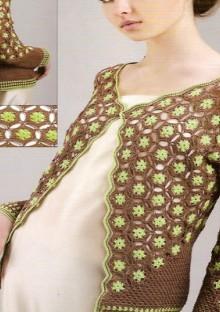 crochet floral jacket