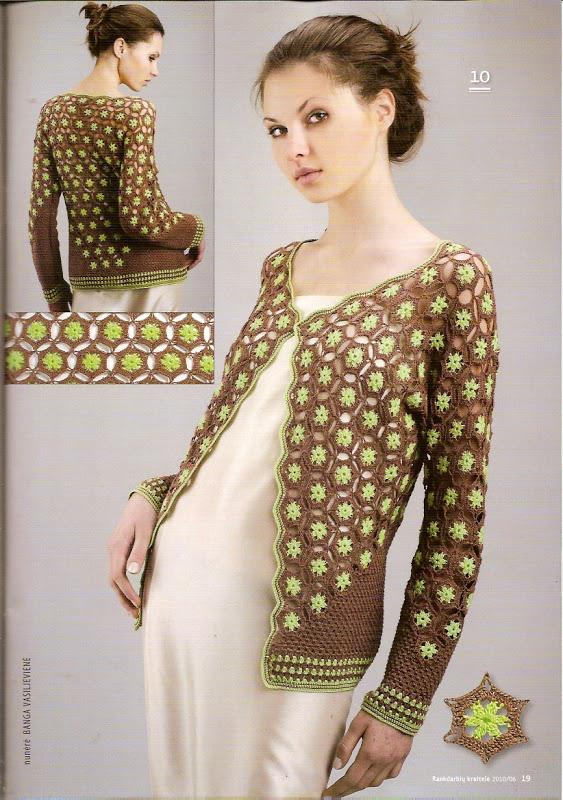 Crochet Flower Jacket Pattern : crochet floral jacket make handmade, crochet, craft