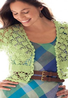 crochet flower blouse
