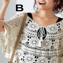 crochet flower poncho