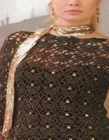 crochet lace sweater for evening party