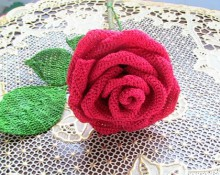 crochet rose for love