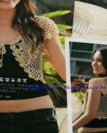 crochet spring bolero for girl