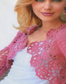 crochet spring bolero
