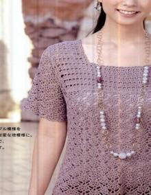 crochet spring tunic, crochet pattern