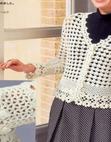 crochet spring vest for women