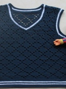 crochet vest for boy