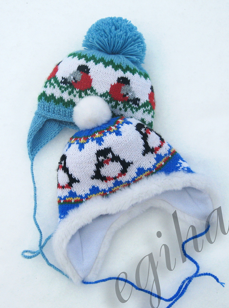 knitting winter baby hats