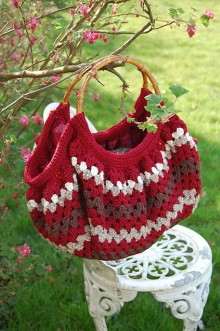 striped bag from a square