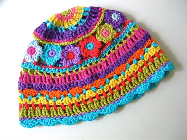 Free Crochet Pattern Multi Colored Hat : crafts for spring : colorful hat, crochet pattern make ...