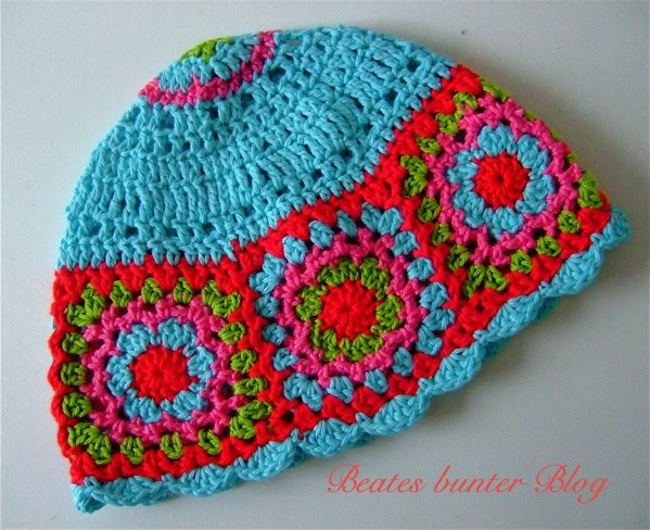 crafts for spring : colorful hat, crochet pattern