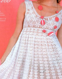 crochet cute dress for beach