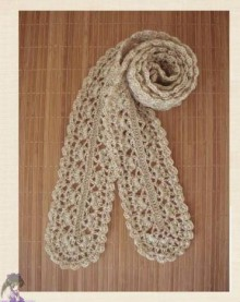 crochet cute scarf, crochet pattern