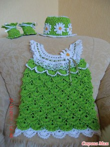 crochet dress and top for baby