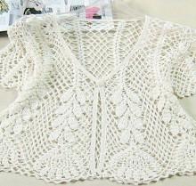 crochet spring bolero, crochet pattern
