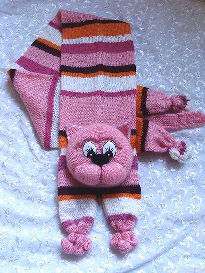 为孩子们编织的动物围巾毛线编织花样图解