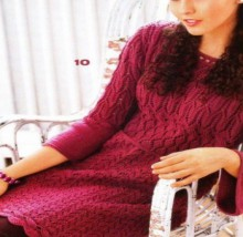 knitting dress for ladies