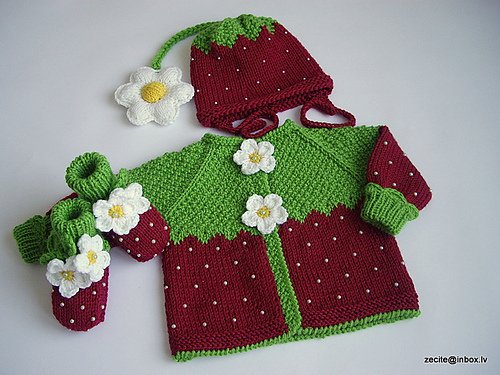 Knitting Strawberry Hat And Sweater For Kids Make