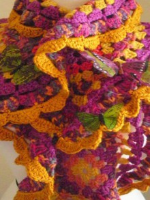 spring crafts: colorful scraves, free crochet patterns