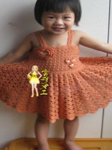 spring and summer crafts: crochet cute dress for kids