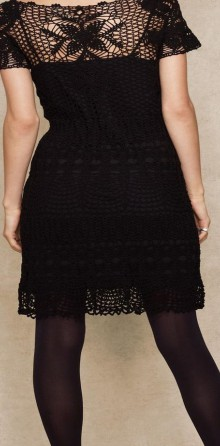 crochet beautiful black dress for ladies