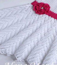 crochet cute summer and spring dress for little girls