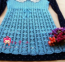 crochet cute lace dress for ladies