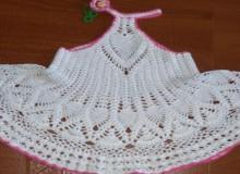 crochet cute summer tunic for little girls