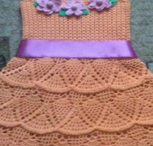 crochet dress for baby girls 6-7 years old