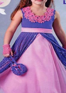 crochet evening dress for little girls