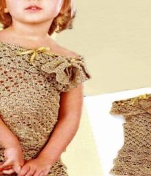 crochet golden dress