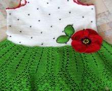 crochet green dress for summer