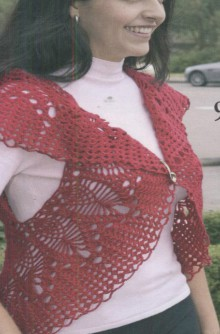 crochet round bolero for women