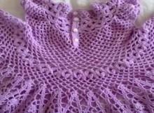 crochet ruby dress for daughter