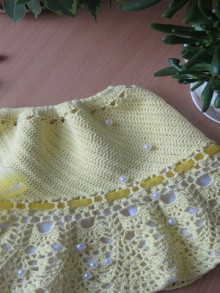 crochet spring and summer skirt