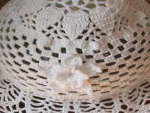 crochet white hat for summer