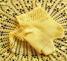 crochet yellow baby dress