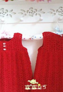 crochet cute dress for christmas