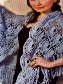 crochet seashell shawl