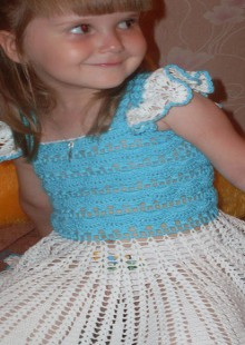 crochet summer dress for little girls