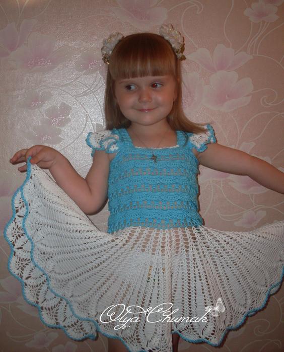 钩针女童裙子----15(燕窝编织) - 燕窝 - 燕窝编织