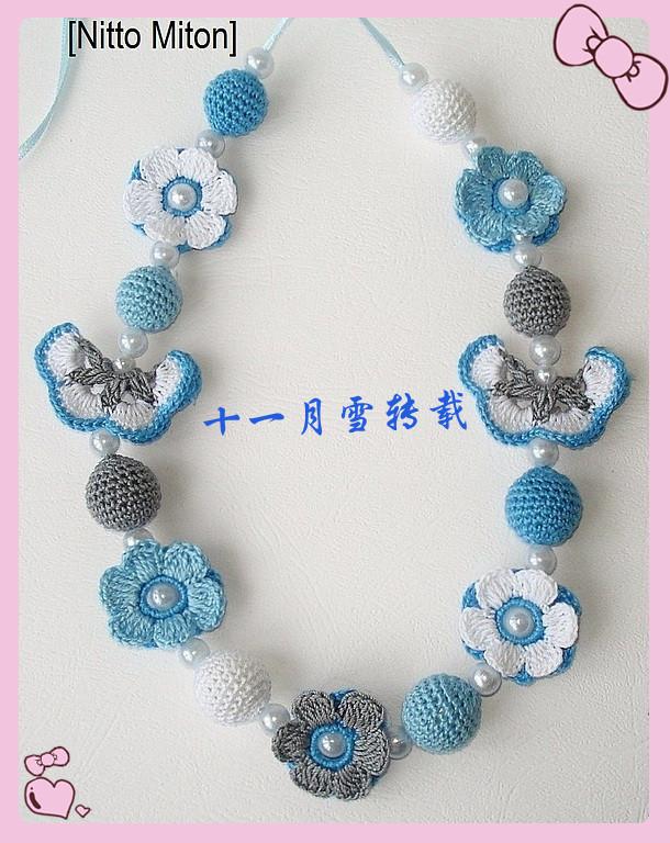 一组俄罗斯网站手工儿童项链很漂亮 - 十一月雪 - November DIY