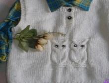 knitting owl vest