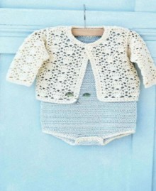 crochet diaper top and cardigan for baby