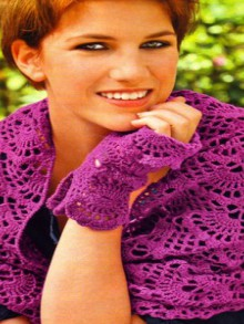 crochet beauty lace scarf, crochet pattern