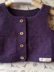 beauty knitting vest for kids
