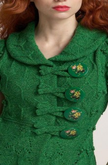 crochet beauty cable cardigan